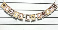 Autumn Wedding Banner FALL IN LOVE with Leaves .......... Cute