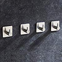 Aikzik 4 Stk Selbstklebend Handtuchhaken Max 8kg Bademantelhaken Haken Wandhaken Edelstahl Rostfrei Bad Und Ku Handtuchhaken Bad Handtuchhaken Handtuchhalter