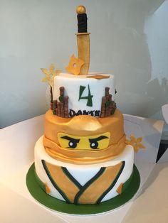 Birthday Party Themes, Boy Birthday, Birthday Cakes, Ninjago Party, Lego Ninjago, Ninja Cake, Cake Ideas, Party Ideas, Children