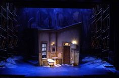 The Wild Party. College Conservatory of Music. Set design by Mark Halpin. Lighting Design by Steven Mack Stage Lighting Design, Stage Design, Set Design Theatre, Prop Design, Theatrical Scenery, Stage Set, Scenic Design, Miniature Houses, Installation Art