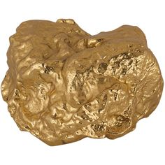"""A decorative gold nugget inspired by the gold rush of a bygone era. - Dimensions: 3""""W x 1.8""""L x 1.6""""H - Color: Gold - Material: Aluminium - Shipping: Ships within 5-7 days. US only. - Return: This ite"""