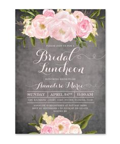 Emily: Bridal Luncheon Invitation