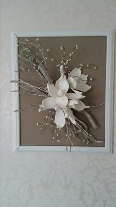 Caught some dry branches, no one thought what he would use Bid . Home Design : Caught some dry branches, no one thought what he would use Bid . Art Diy, Diy Wall Art, Art Floral, Floral Design, Flower Crafts, Flower Art, Paper Doily Crafts, Rama Seca, Branch Decor