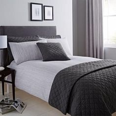 2dbc946ef03 Jasper Woven Grey Duvet Cover and Pillowcase Set