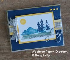 Card made using the Waterfront Stamp Set