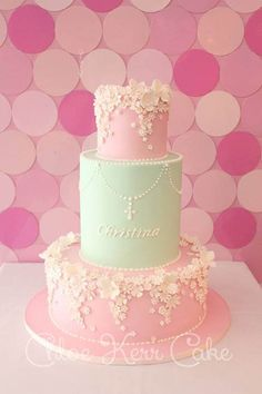 Beautiful Cake Pictures: Garden of Tiny Flowers Christening Cake - Baptism Cakes & Cupcakes, Birthday Cake, Flower Cake -