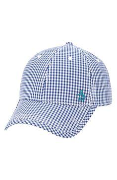 2e5e1d26ecd Men s Original Penguin  Ray Ray  Gingham Check Ball Cap - Blue