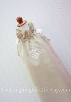 NEW...The Sara...Girls Linen Dress by TheLaughingGiraffe on Etsy, $48.00