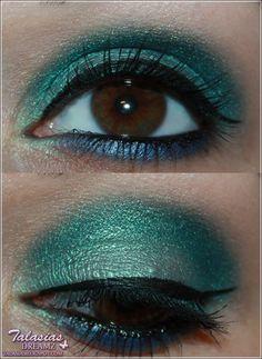 Turquoise Eye Make Up - Datum: 23.05.2012  http://talasia.blogspot.de/2012/05/amu-beni-durrer-lidschatten-pompos-e.html