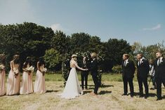 """We Love Everything About This Bride's Dreamy Look #refinery29  http://www.refinery29.com/green-wedding-shoes/22#slide-14  These two probably can't wait to say """"I do.""""Officiant: John Gillespie.Related: This Alternative Bride's Unique Dress Is Everything..."""