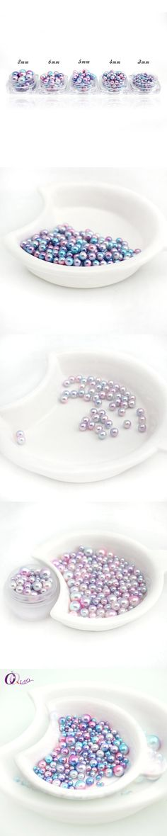Wholesale five Size 3.4.5.6.8mm  Multicolor ABS vintage style pearls Round Loose Beads For jewelry making DIY