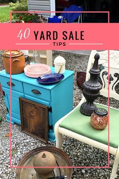 garage sale 40 yard sale tips to make the most out of your sale this year. Yard sales and garage sales are a GREAT way to make extra cash while decluttering your home. Yard Sale Signs, Garage Sale Signs, For Sale Sign, Garage Sale Organization, Organization Ideas, Organizing, Garage Sale Pricing, Diy Yard Decor, Rummage Sale
