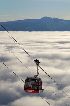 Jackson WY aerial tram, above the clouds