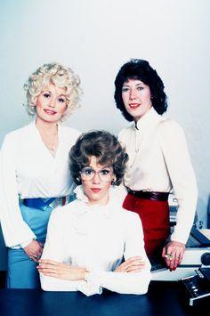 Dolly Parton, Lily Tomlin and Jane Fonda for Nine to Five, 1980. Via http://hollywoodlady.tumblr.com/