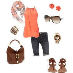 Orange, created by dlp22 on Polyvore