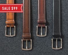 Allen Edmonds Rediscover America Sale - MANISTEE BELT: SALE $99