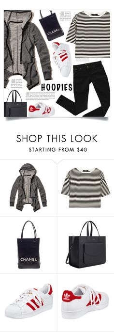 """Heads Up! Cute Hoodies"" by dolly-valkyrie ❤ liked on Polyvore featuring Hollister Co., TIBI, Chanel, adidas and Hoodies"