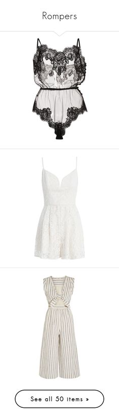 """""""Rompers"""" by aylin-schroeder on Polyvore featuring intimates, shapewear, lingerie, underwear, bodysuits, black, jumpsuits, rompers, dresses und playsuits"""
