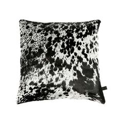 Zulucow cowhide cushion white and black