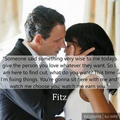 The music that plays when something big happens between Fitz and Olivia... Augh!!! ♡♡♡ Best show ever