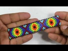 COMO HACER PULSERA EN MOSTACILLA Y PERLAS DE COLORES//HOW TO BRACELET IN COLOR AND PEARLS - YouTube