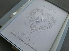 Diamond 60th Wedding Anniversary Card Handmade Personalised Box Envelope View More On