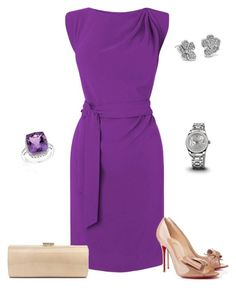 """""""Untitled #952"""" by julia0331 ❤ liked on Polyvore featuring L.K.Bennett, Blue Nile, Christian Louboutin, Jimmy Choo and Reeds Jewelers"""