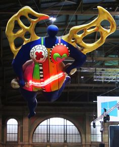 Guardian Angel by Niki de St. Phalle Zurich station, via Flickr.  @SonjaSwissLife: Guardian Angel #Zurich #Train Station #Hauptbahnhof #Switzerland #Art #Travel #TTOT