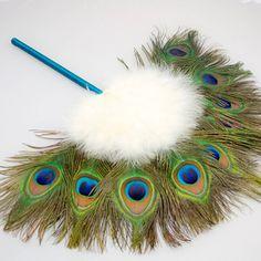 Elsie Bridal Peacock Feather Fan