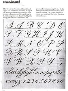 calligraphy, art and design: The English Copperplate and Palmer. streetwear s . Script Alphabet, Alphabet A, Hand Lettering Alphabet, Script Lettering, Lettering Styles, Lettering Design, Copperplate Calligraphy, How To Write Calligraphy, Calligraphy Handwriting