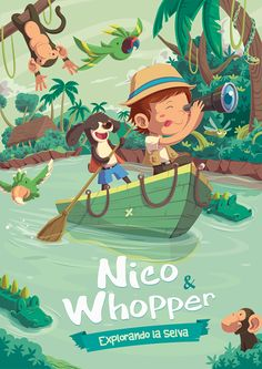 Nico&Whopper on Behance illustration Children's Book Illustration, Character Illustration, Book Cover Design, Book Design, Cartoon Background, Grafik Design, Illustrations And Posters, Conte, Childrens Books