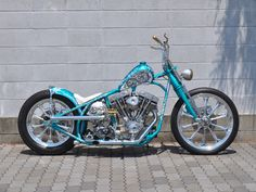 "Looks like ""Indian Larry's"" work, he did some really nice hand-built bikes and great paint."