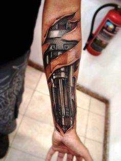 Biomechanical Tattoo Designs For Men