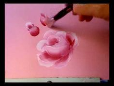 Painting A Rose, Eine Rose Malen Mit Acrylfarben - YouTube