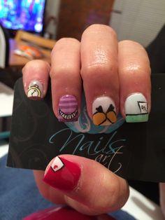 Nails art, acrylic nails, nails Alice in wonderland Alice In Wonderland Nails, Sparkly Nails, Cute Nail Designs, Creative Nails, Disney Stuff, Cute Nails, Nail Ideas, Acrylic Nails, Nail Polish