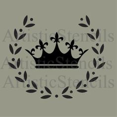 Crown in Wreath Stencil