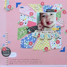 The Patterned Paper Effect:: A Scrapbooking Tutorial by Tomomi Hiramaru @ shimelle.com