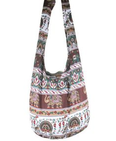 Thai Hippie Hobo Boho Gypsy Shoulder Bag Cross-Body Sling Yaam Elephan Peafowl