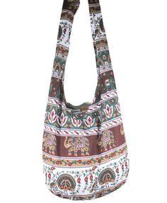 Thai Hippie Hobo Boho Gypsy Shoulder Bag Cross-Body Sling Yaam Elephan Peafowl