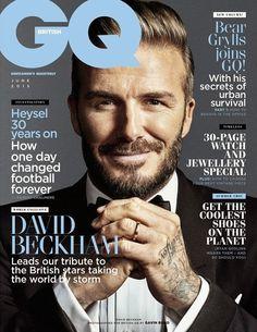 David Beckham en portada de British GQ Junio 2015