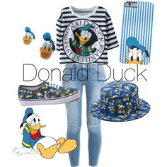 Donald Duck by izzyfrizzy2003 on Polyvore featuring polyvore, fashion, style, Frame Denim, Disney, Vans and disney