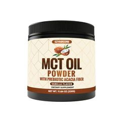 Sponsored - MCT Oil Powder Keto Friendly Fat Source For Ketosis Ketone Energy Supplement On Ketosis Supplements, Energy Supplements, Keto Coffee Creamer, Fat Sources, Craving Carbs, Acacia Gum, Fat For Fuel, Natural Fat Burners, Filling Food