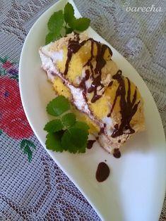Kardinál rezy (fotorecept) - recept | Varecha.sk Pudding, Ethnic Recipes, Desserts, Food, Basket, Tailgate Desserts, Deserts, Custard Pudding, Essen