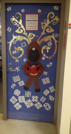 Christmas Door Decorations for School - Bing Images Christmas Classroom Door, Kids Christmas, Christmas Crafts, Christmas Ornament, Holiday Door Decorations, School Door Decorations, Holiday Crafts For Kids, Holiday Ideas, Reno