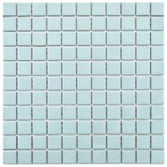 "EliteTile Retro 1"" x 1"" Porcelain Mosaic Tile in Matte Light"