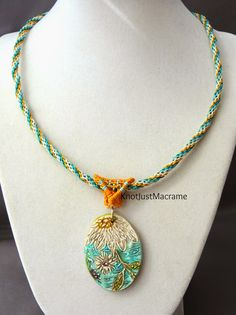 Macrame necklace by Sherri Stokey of Knot Just Macrame.