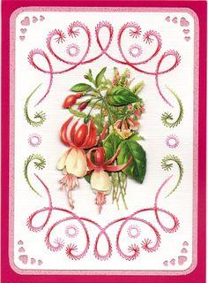 Friendship Card. Pattern from Hobbydol Book No 121 by Sjaak Van Went.