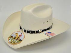 7a72352f62b46 Larry Mahan 10X Oplin Straw Cowboy Hat
