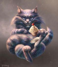 Cheshire Cat by J-Veng on DeviantArt Cheshire Cat Art, Cheshire Cat Alice In Wonderland, Chesire Cat, Lewis Carroll, Creepy Cat, Wonderland Tattoo, Alice Madness, Adventures In Wonderland, Lilo Stitch