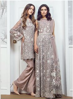 Baroque - Chiffon - Chantilly Glow – Blossoms by Azz Hijab Dress Party, Nikkah Dress, Dress Brokat, Shadi Dresses, Party Wear Dresses, Pakistani Fashion Party Wear, Pakistani Wedding Outfits, Pakistani Dresses, Indian Dresses